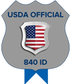 USDA Official 840 ID